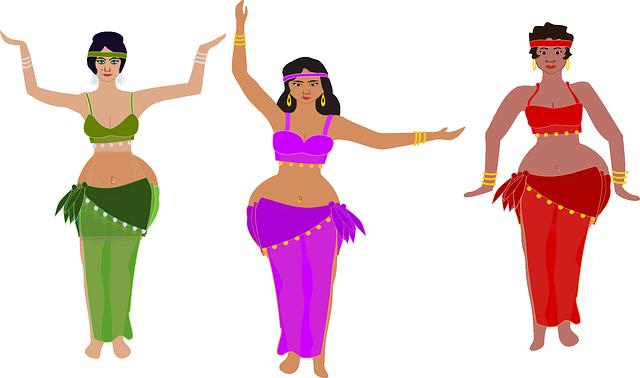 orientální tanečnice animace