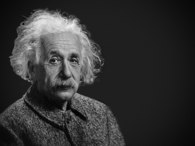 portrét Alberta Einsteina