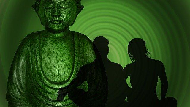 cvičení u Buddhy