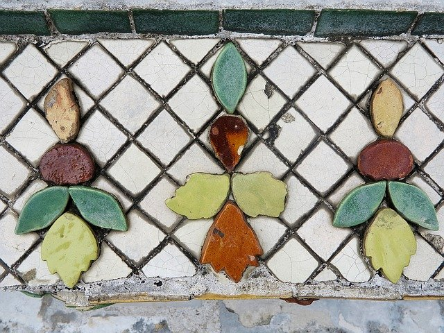 mozaika z porcelánu