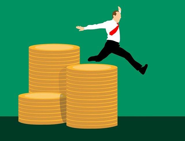 skok přes mince